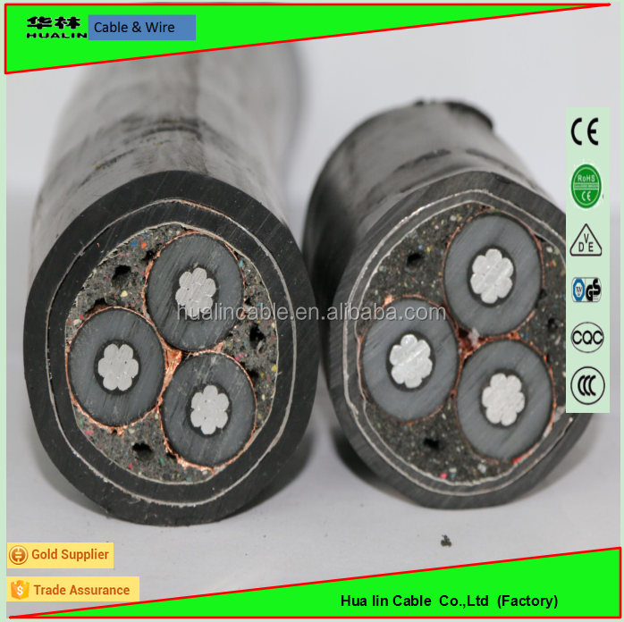 Low smoke, free halogen, Copper conductor, XLPE insulated, polyolefin sheathed, steel wire armoured power cable