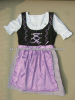 Mini Dirndl, with blouse, with apron / TRACHTEN DIRNDL DRESS / TRADITIONAL BAVARIAN DIRNDL