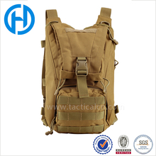 wholesale tan military water proof pouch Hydration Pack Drinking camping water bag with bladder for hiking
