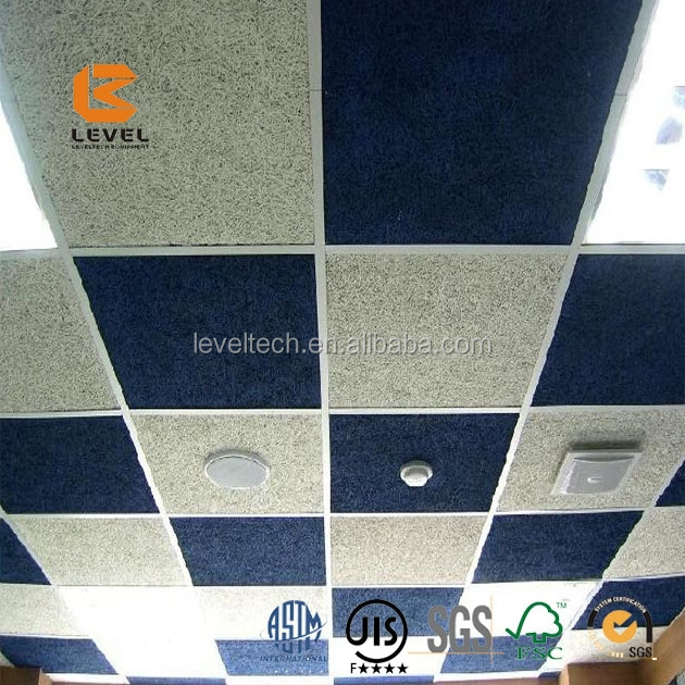 Natural Wood Wool Cement Composite Wall Panels Acoustic Panels