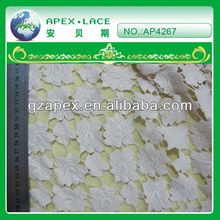 2013 Latest design 100% cotton lace,water soluble embroidery Lace Fabric