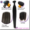Top quality unprocessed natural raw virgin indian synthetic hair
