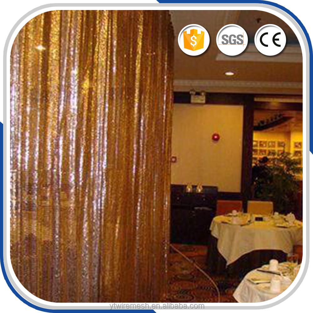 List Manufacturers Of Metal Foil Curtain Buy Tirai Backdrop Gold Metallic Fringe