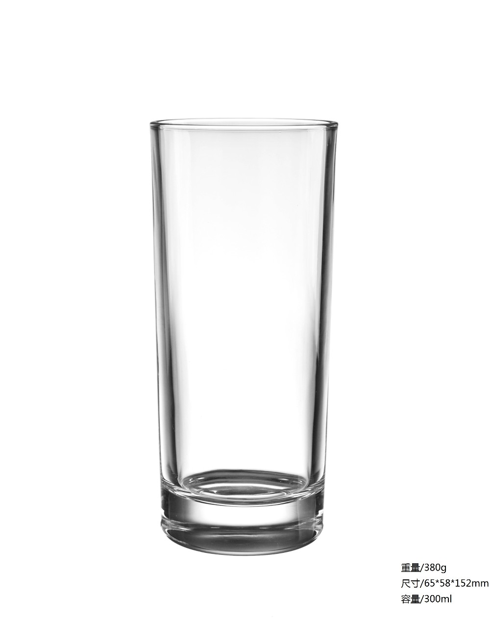 clear highball heavy thick 8oz drinking water glass with thick design bottom
