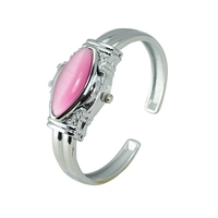 fashion pink color lady Clamshell Bracelet Watches
