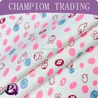 2016 new design the rabbit printing cotton fabric for babywear child clothing