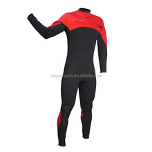 scuba diving suit foamed neoprene full body suit surfing wetsuit red and black