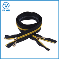 Professional Factory Cheap Wholesale nylon zipper for garment with gold teeth