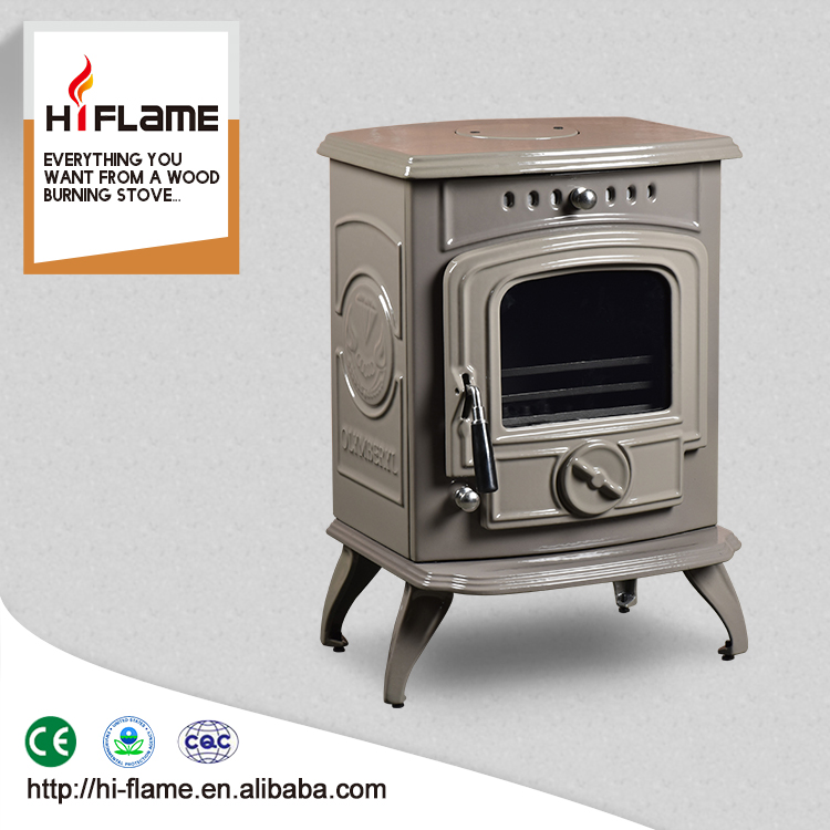 Best selling HF332 Enamel Caesious CE Approved freestanding cast iron wood burning fireplace