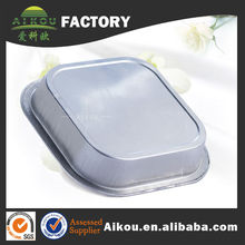 Microwave and oven aluminum thermal container for food packing