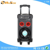 Supply all kinds of speaker lift,rechargeable music speaker on wheels