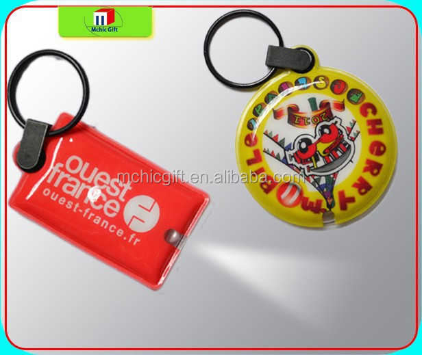 Led keychain/key tag/rubber keychain
