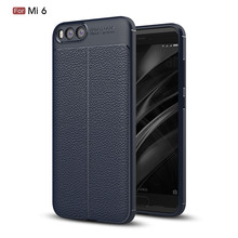 360 Degree Full Protective Leather Design Soft TPU Cell Phone Cover Case For Xiaomi 6