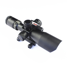 2.5-10X40 led scope mounted spotlight, red&green mil-dot illuminated hunting rifle scope