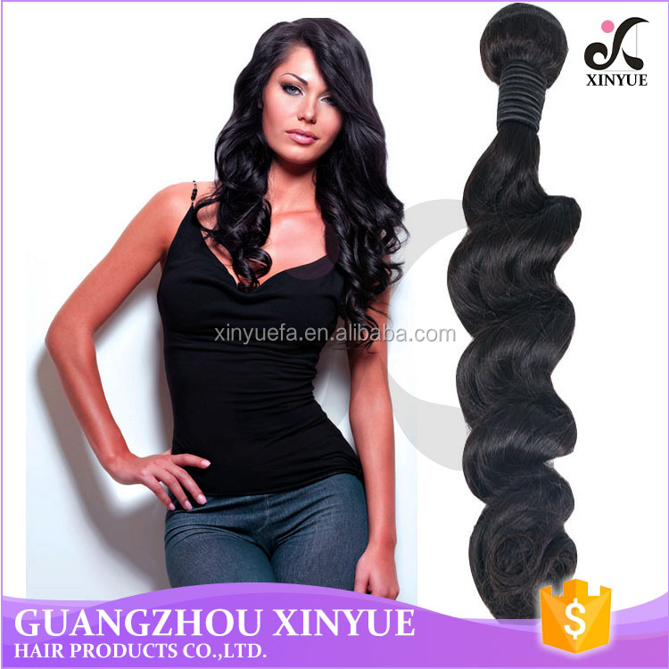 2017 new arrivals virgin malaysian loose body wave hair extensions with last life