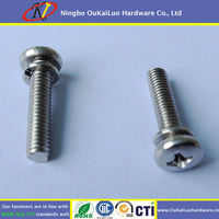 Stainless Steel Pan Head Assembly Screw with washer