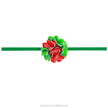 Lastest Designs Baby Infant Christmas Thin Elastic Headband with Flower