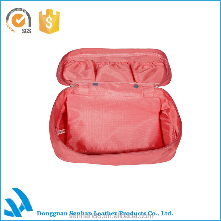 Fashion hot selling large polyester makeup case, spining cosmetic organizer