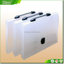 Customized A3 A4 A5 Eco-friendly PP plastic file carry case with any logo printing