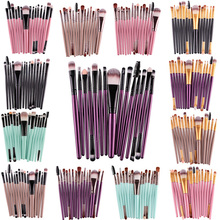 15Pcs/Kit Makeup Brushes Set Eye Shadow Brow Eyeliner Eyelash Lip Foundation Power Cosmetic Make Up Brush Beauty Tool
