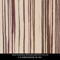 reconstituted zebrano mdf wood face veneer for furniture wall hotel decoration