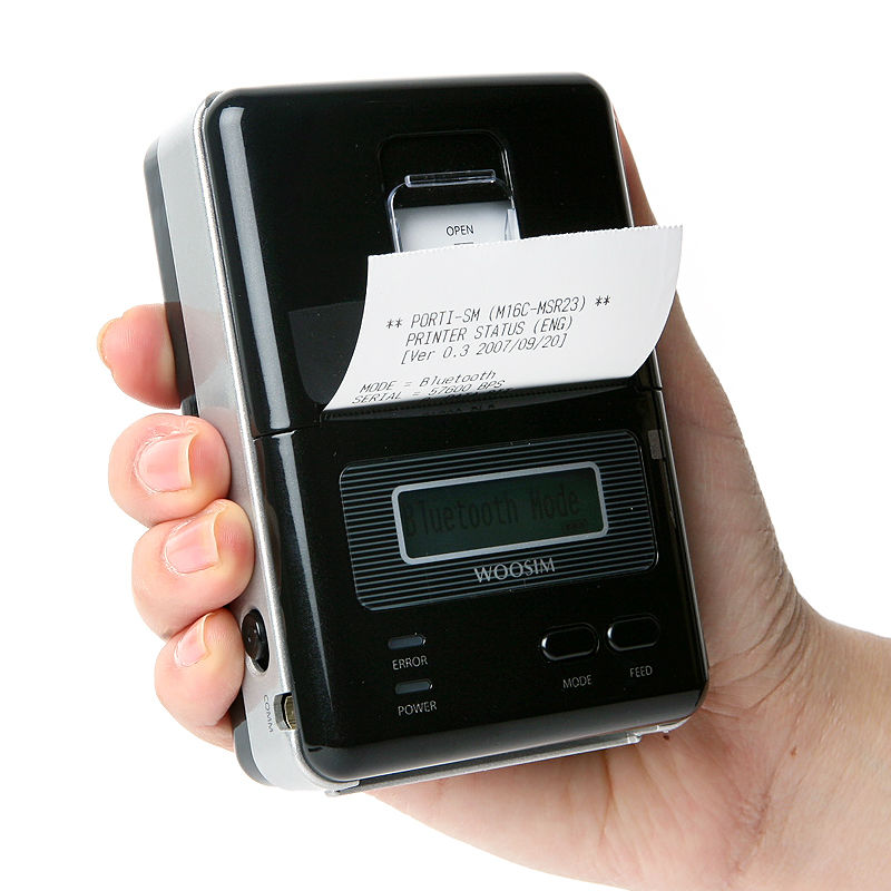 WOOSIM PORTI-SM40 cell phone case small ticket printer