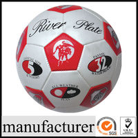 GYS-018 Small inflatable PVC football, cheap plastic football for kids