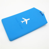 Fashion design embossed airplane luggage tag, multi color 3d pvc luggage tag, hotel luggage tag for travel