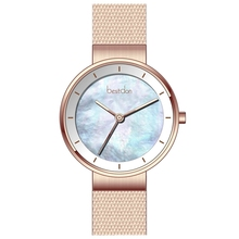 Waterproof minimalist stainless steel wrist watch women