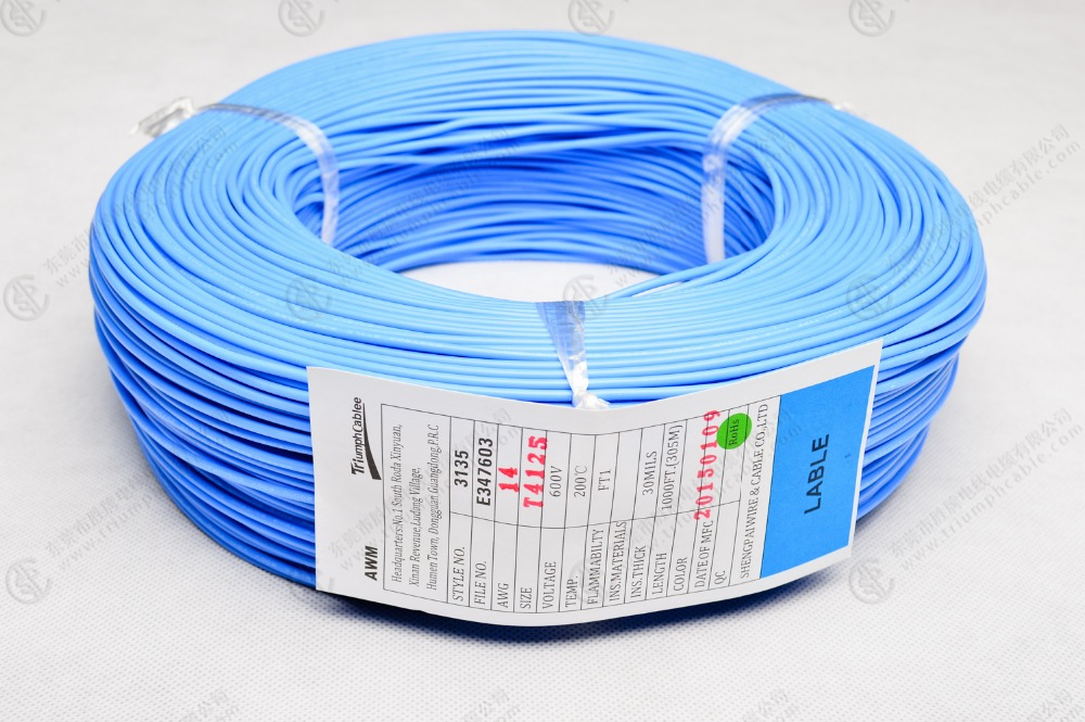 UL3135 18 AWG silicone wire blue Red flexible 200 degree 600v wire