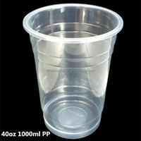 40oz large/giant disposable smoothie PP plastic cups