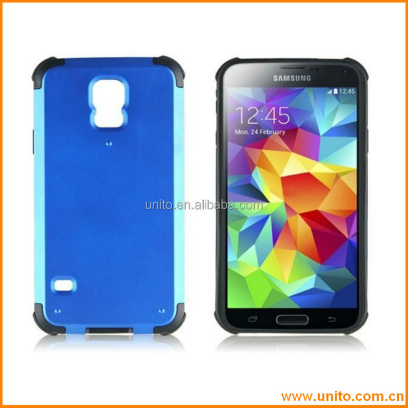 shockproof hybrid nontoxic Pc+TPU hot selling mobile phone case for samsung galaxy S5