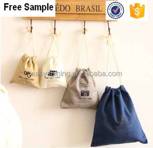 Eco Friendly Cotton Textile Drawstring Pouch