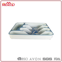 Melamine buffet use large serving trays with divisions