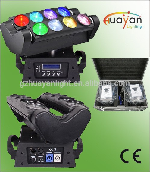 Perfessional stage light rgbw 8x10w led beam spider moving head