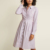 Fashion New Mid Long Sleeve Dotted Casual Plus Size shirt dress