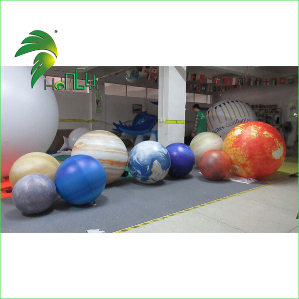 Customize Hanging / Flying Inflatable Solar System Planets , Nine Planets Balloon With LED Lighting