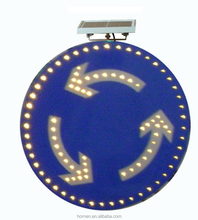 Hangzhou solar LED road safty traffic signal of island sign