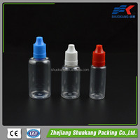 E cig juice smoke oil pet 30ml e liquid plastic bottles with dropper for e-cig /eliquid/e liquid bottle