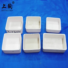 High temperature corrosion resistance rectangular alumina ceramic tray crucible for furnace kiln