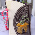 2016 Luxury laser cut greeting bowknot handbag wooden wedding invitation card