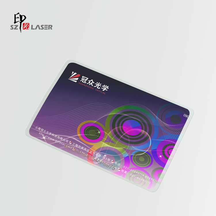 86*54MM ID Cards Transparent Hot Laminate Hologram Laminating Pouch Film