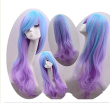 YILU Fashion Womens Lolita Curly Wavy Long Wigs Full Hair cosplay Wig