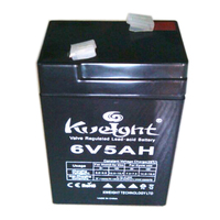low self-discharge maintenance free agm vrla 6v 5ah 20hr rechargeable battery
