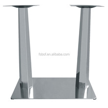 Furniture accessories fixing square metal glass top table legs chrome dining table legs QF89