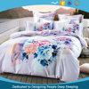 China Manufacturer NO PVA Eco Friendly100% Cotton Sateen Fabric Bed Linen Set Queen, duvet cover with zipper or Buttons