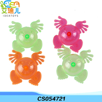 Magic and cool colorful mini frog shape plastic spinning top