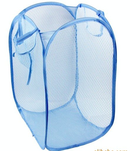 Wholesale Folding Mesh Laundry Hamper Basket Bag