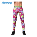 sports fitness camouflage compression pants men high waisted workout leggings