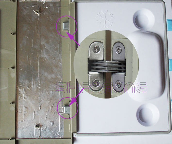 stainless steel small ice box refrigerator hinge